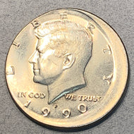 1990 Kennedy Half Dollar Error, BU