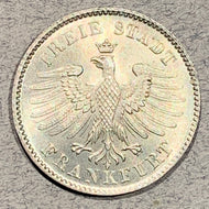 Germany, Frankfurt, 1838, 6 kreuzer - MS64