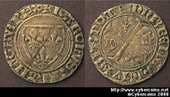 France, 1380-1422 Denier? of Charles VI - D377a - VF