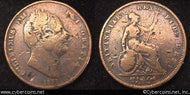 Great Britain, 1831,   1 penny,  VG/F, KM707