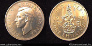 Great Britain, 1950,   1 shilling,  Proof, KM877