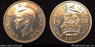 Great Britain, 1950,   1 shilling,  Proof, KM876