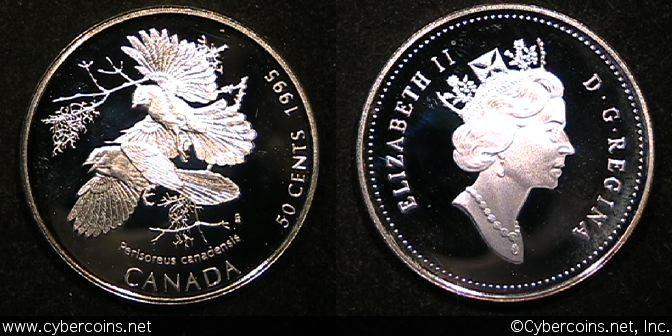 1995, Canada 50 cent, KM263, Proof.