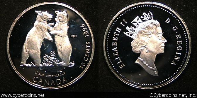 1996, Canada 50 cent, KM286, Proof.