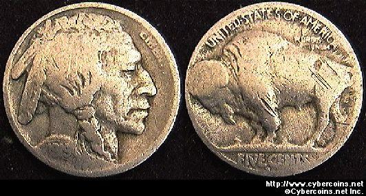 1919-S Buffalo Nickel, Grade= VG
