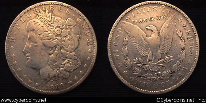 1889  Morgan Dollar, F   VAM5A TOP 100