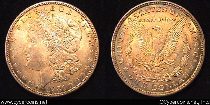 1921  Morgan Dollar, MS63
