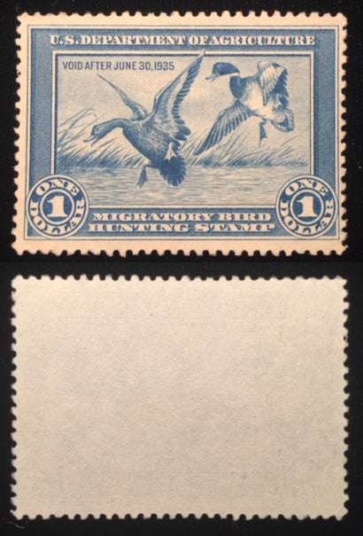 RW1 Duck Hunting Stamp. Mint, no gum.