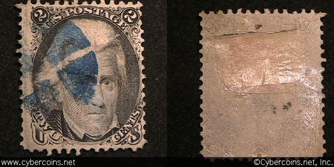 US #73 2 Cents Jackson - Used - good details.