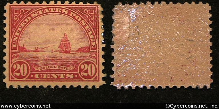US #567 20 Cent Golden Gate - Mint - not