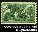 Scott 1023 mint sheet 3c (50) - Sagamore Hill