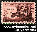 Scott 1077 mint sheet 3c (50) - Wildlife Conservation, Wild Turkey