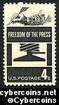 Scott 1119 mint  4c -  Freedom of the Press