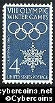 Scott 1146 mint sheet 4c (50) -  VIII Winter Olympics