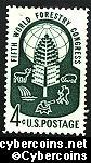 Scott 1156 mint  4c -  5th World Forestry Congress