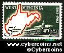 Scott 1232 mint  5c -  West Virginia Statehood