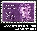 Scott 1236 mint  5c -  Eleanor Roosevelt