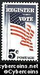 Scott 1249 mint sheet 5c (50) -  Register and Vote