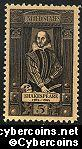 Scott 1250 mint  5c -  Shakespeare