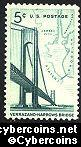 Scott 1258 mint  5c -  Verrazano-Narrows Bridge