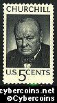 Scott 1264 mint  5c -   Winston Churchill