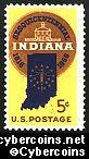Scott 1308 mint sheet 5c (50) -   Indiana Statehood Sesquicentennial