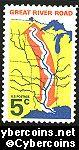 Scott 1319 mint sheet 5c (50) -   Great River Road