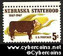 Scott 1328 mint  5c -   Nebraska Statehood