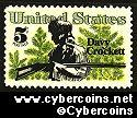 Scott 1330 mint  5c -   Davy Crockett
