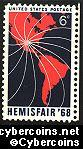 Scott 1340 mint sheet 6c (50) -   Hemisfair '68