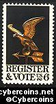 Scott 1344 mint sheet 6c (50) -   Register and Vote
