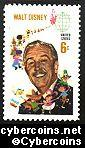 Scott 1355 mint  6c -   Walt Disney