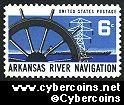 Scott 1358 mint sheet 6c (50) -   Arkansas River Navigation
