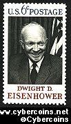 Scott 1383 mint  6c -   Dwight D. Eisenhower