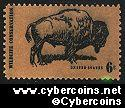 Scott 1392 mint sheet 6c (50) -   Wildlife Conservation - Buffalo