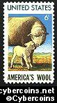 Scott 1423 mint  6c -   America's Wool - Sheep