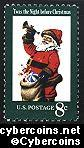 Scott 1472 mint  8c -   Christmas - Santa Claus