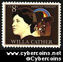 Scott 1487 mint sheet 8c (40) -   Willa Cather - Novelist