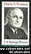 Scott 1499 mint  8c -   Harry S. Truman
