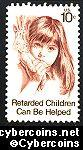 Scott 1549 mint sheet 10c (50) -   Retarded Children Can Be Helped