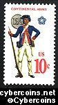 Scott 1565 mint  10c -   Continental Army