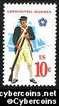 Scott 1567 mint  10c -   Continental Marines