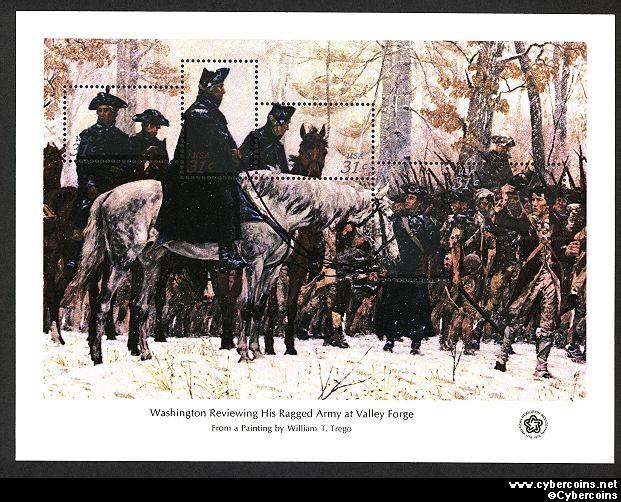 Scott 1689 mint 31c -  Washington at Valley Forge