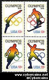 Scott 1695-98 mint sheet 13c (50) -  Olympic Games, 4 varieties, attached