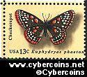 Scott 1713 mint 13c -  Butterflies - Checkerspot