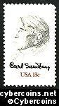 Scott 1731 mint sheet 13c (50) -  Carl Sandburg