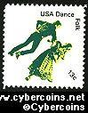 Scott 1751 mint 13c -  American Dance - Folk