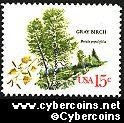 Scott 1767 mint 15c -  Trees - Gray Birch