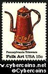 Scott 1778 mint 15c -  PA Toleware - Coffee Pot