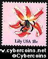 Scott 1879 mint 18c -  Flowers - Lily